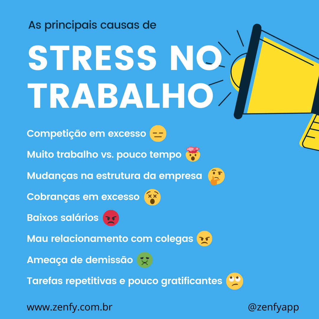 Infografico sobre stress no trabalho zenfy