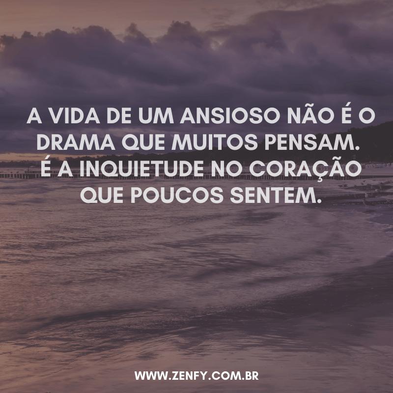 a vida de um ansioso não é o drama que muitos pensam é a inquietude no coração que poucos sentem