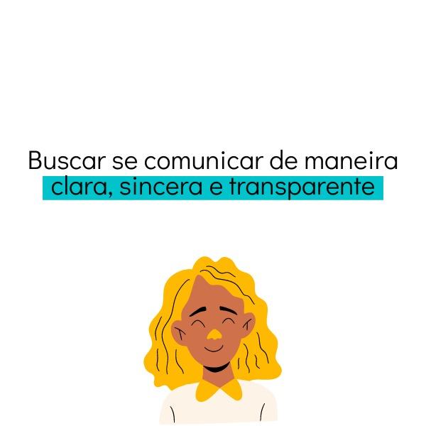 comunicação clara e transparente