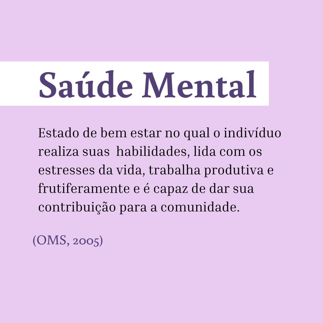 saúde mental definição