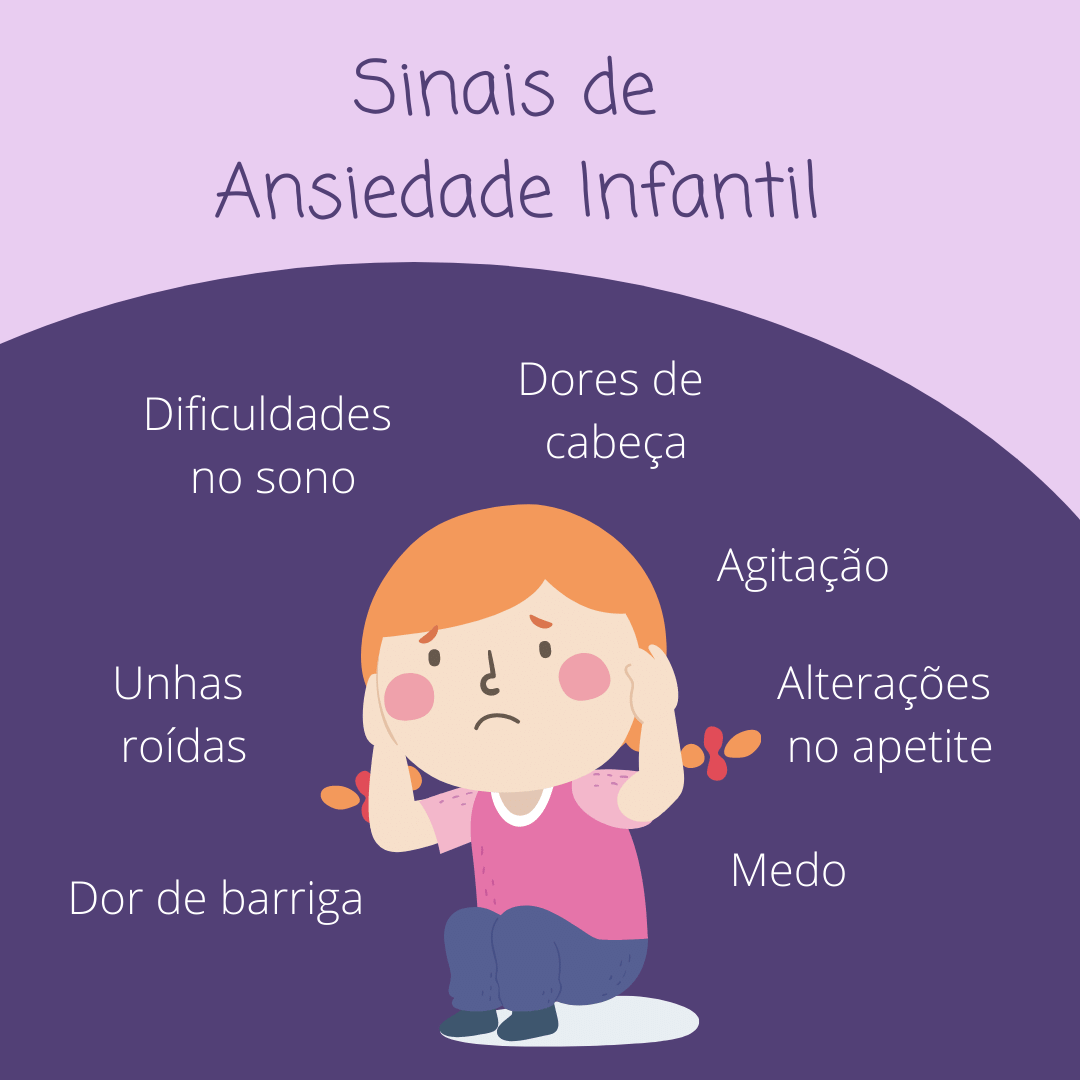sinais de ansiedade infantil